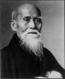 Portrait d'Morihei Ueshiba Senseï.